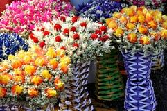 Droge en bewaarde bloemdecoratie Royalty-vrije Stock Foto's