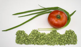 Droge erwtenui en tomaat Royalty-vrije Stock Foto