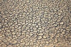 Droge gebarsten de grondachtergrond van de aardegrond Stock Foto