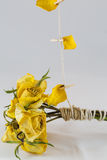 Droge gele rozen Royalty-vrije Stock Foto's