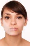 Droge gezichts van Skincare stock foto