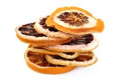 Droge grapefruit op wit stock afbeelding