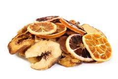 Droge grapefruit op wit stock afbeeldingen