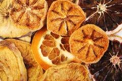Droge grapefruit op wit royalty-vrije stock foto's