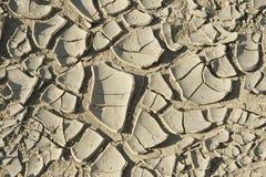 Droge grond bij vroegere zeebedding van het Aral overzees Royalty-vrije Stock Foto