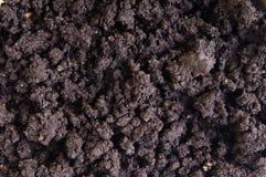 Droge grondclose-up Royalty-vrije Stock Afbeeldingen