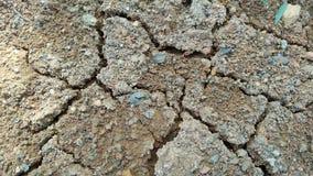 Droge grondtextuur, gebarsten grond, dorre grond, barsten zonder droog stock afbeeldingen