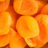 Droge het voedselachtergrond van het abrikozenclose-up Royalty-vrije Stock Afbeeldingen