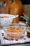 Droge hete peper, Spaanse peper, mengelingskruiden Stock Foto