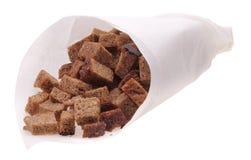 Droge korst van roggebrood stock fotografie
