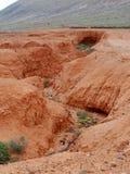 Droge kreken en rivierbedden dichtbij La Oliva op Fuerteventura royalty-vrije stock foto's
