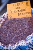 Droge lavendelhoop Stock Foto
