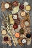 Droge Macrobiotische Dieetnatuurlijke voeding stock afbeeldingen