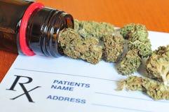 Droge marihuanaknoppen Royalty-vrije Stock Foto's
