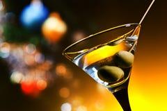 Droge martini met olijven Stock Foto's