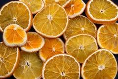Droge Oranje Plakken Stock Foto