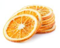 Droge oranje plakken in de vorm van dalende toren stock foto's