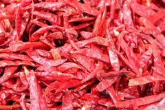 Droge peper op de markt Stock Fotografie