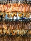 Droge pijlinktvis klaar om voor verkoop te roosteren Stock Fotografie