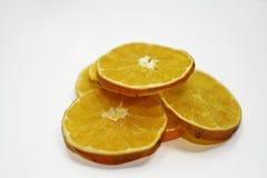 Droge plakken van sinaasappel Stock Foto