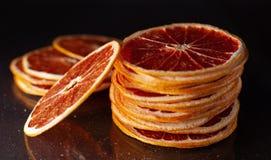 Droge ringen van grapefruit stock afbeelding