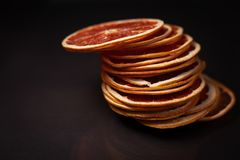 Droge ringen van grapefruit royalty-vrije stock afbeeldingen