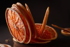 Droge ringen van grapefruit stock foto's