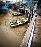 Droge rivier in de oude stad van Hong Kong Royalty-vrije Stock Afbeelding