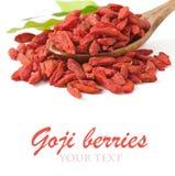 Droge rode gojibessen voor een gezonde voeding Stock Fotografie