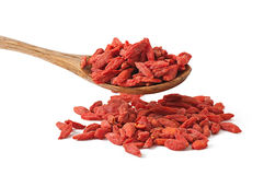 Droge rode gojibessen voor een gezonde voeding Royalty-vrije Stock Afbeeldingen