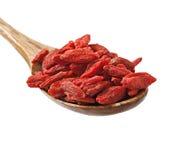 Droge rode gojibessen voor een gezonde voeding Stock Afbeeldingen