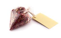 Droge rode rozen in zak Royalty-vrije Stock Afbeeldingen