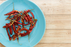 Droge Rode Spaanse peper, Thais Voedselingrediënt Royalty-vrije Stock Foto's