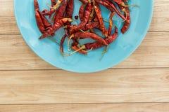 Droge Rode Spaanse peper, Thais Voedselingrediënt Stock Foto