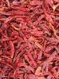 Droge Rode Spaanse pepers Stock Fotografie