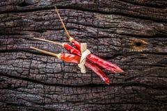 Droge rode Spaanse pepers Royalty-vrije Stock Afbeeldingen