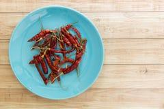 Droge Rode Spaanse pepers, Thais Voedselingrediënt Royalty-vrije Stock Foto's