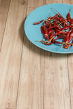 Droge Rode Spaanse pepers, Thais Voedselingrediënt Royalty-vrije Stock Afbeelding