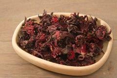 Droge roselle (Hibiscussabdariffa) of rosellafruit royalty-vrije stock afbeeldingen