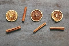 Droge Sinaasappel met Kaneel Royalty-vrije Stock Fotografie