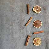 Droge Sinaasappel met Kaneel Royalty-vrije Stock Afbeelding