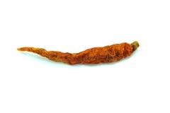 Droge Spaanse peper op witte achtergrond Stock Foto's