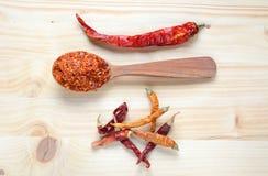 Droge Spaanse peperpeper Stock Foto