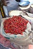 Droge Spaanse peperpeper in massa Stock Foto