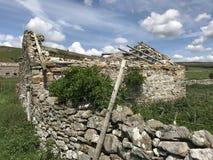 Droge steen die Wensleydale bouwen Stock Afbeeldingen