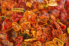 Droge tomaten Stock Afbeelding