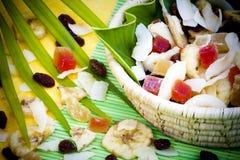 Droge tropische vruchten Royalty-vrije Stock Afbeeldingen