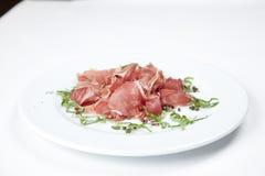 Droge varkensvleessalade stock fotografie