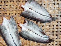 Droge Vissen bij het dorsen van mand Royalty-vrije Stock Afbeelding