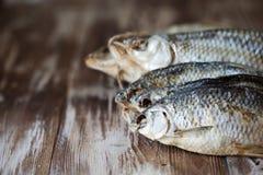 Droge vissen op de lijst Royalty-vrije Stock Foto